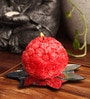 Red Flower Ball Candle by Candles N Beyond
