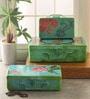 Fluke Design Company Buddha Multicolour Aluminium Jewelry Box - Set of 3