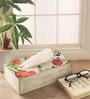 Fluke Design Company Floral Decoupage MDF White Tissue Box