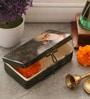 Fluke Design Company Gurunanak Decoupage Green Aluminium 7.1 x 3.9 x 2 Inch Keepsake Box