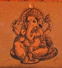 Fluke Design Company Lord Ganesha Decoupage Orange Aluminium 7.1 x 3.9 x 2 Inch Keepsake Box