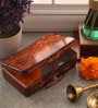 Fluke Design Company Lord Hanuman Decoupage Orange Aluminium 7.1 x 3.9 x 2 Inch Keepsake Box