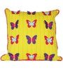 Fly with me Flutter butter cup (16 x 16) Cushion Cover by L Orange