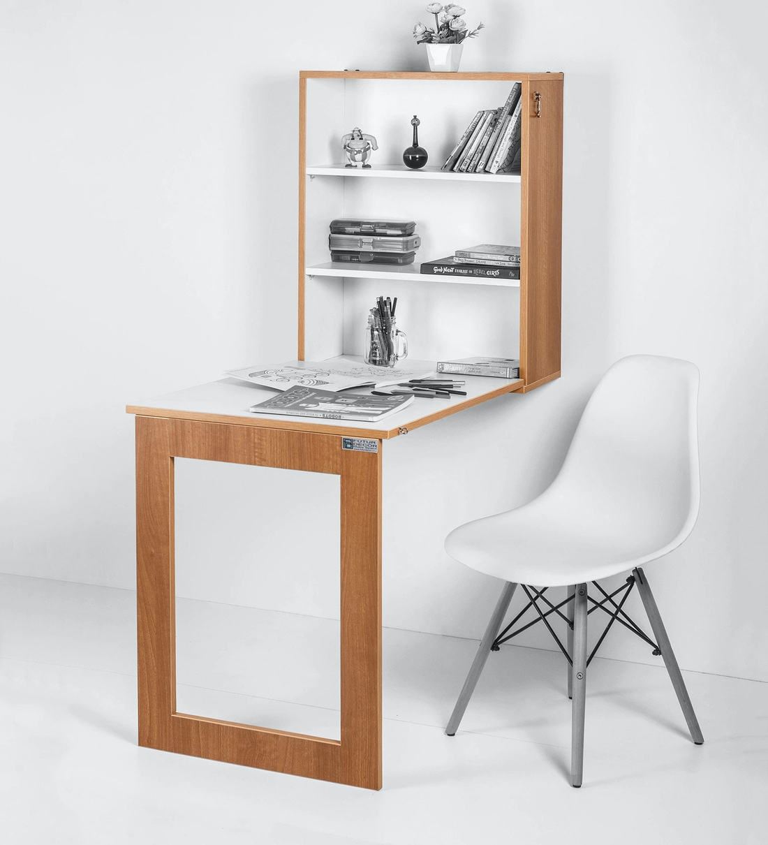 - Buy Folding Wall Mounted Storage Cabinet Cum Study Table In
