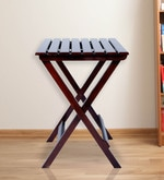 Foldable Table in Brown Colour
