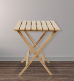 Foldable Table in Large Size in Natural Colour