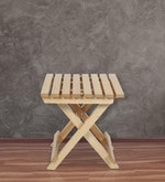 Foldable Table in Small Size in Natural Wood Finish