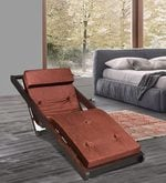Folding Reclining Leisure Chair in Brown Finish