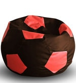 Football XXL Bean Bag with Beans in Brown & Red Colour