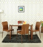 Four Seater Dining Set in Brown Colour