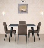 Four Seater Dining Set with Glass Top