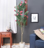 Green Synthetic Tall Decorative Artificial Oleandro Plant