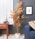 Red Synthetic Tall Decorative Artificial Red Ficus Plant