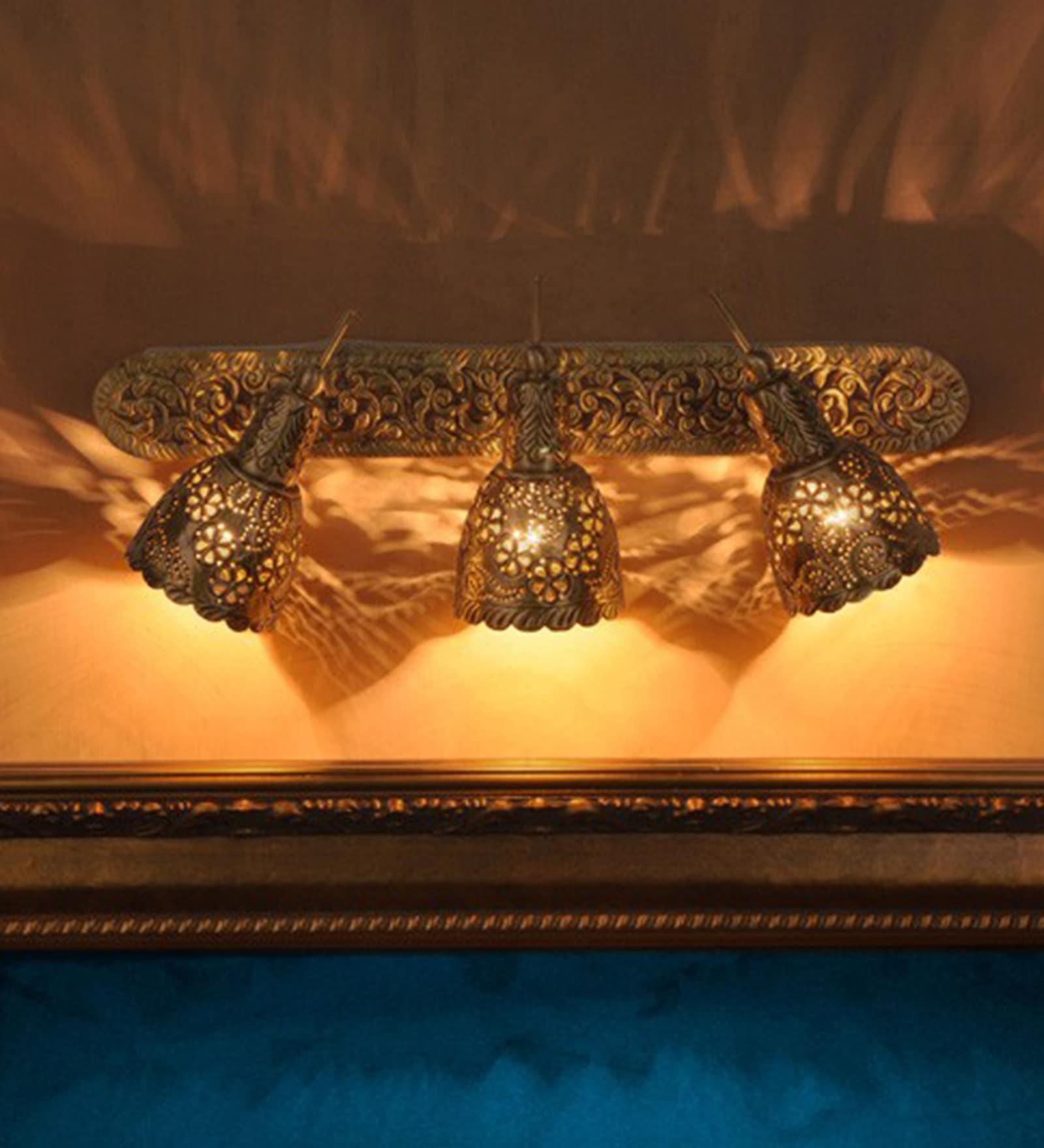 Antique Gold Brass Spot Light by Fos Lighting