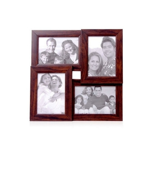 Buy Snap Galaxy Brown Synthetic Wood 5 x 7 Inch Photo Collage Photo ...