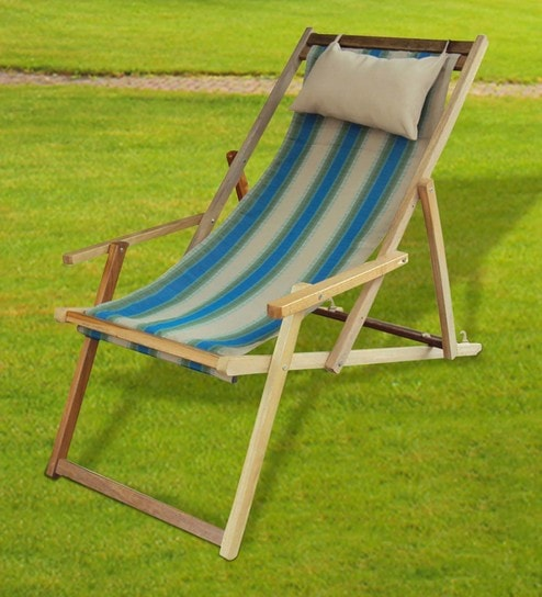 Foldable Outdoor Relax Chair In Forest Stripe By Hang It
