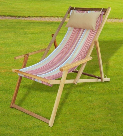 Foldable Outdoor Relax Chair In Tango Stripe By Hang It