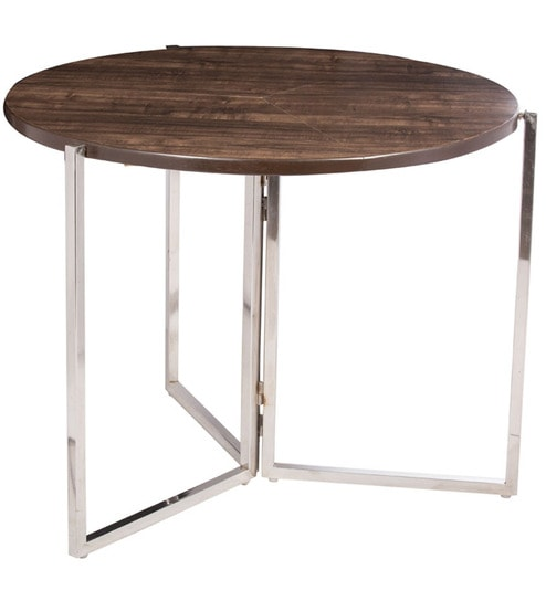 Buy Folding Two Seater Dining Table in Wenge Colour by Tales in