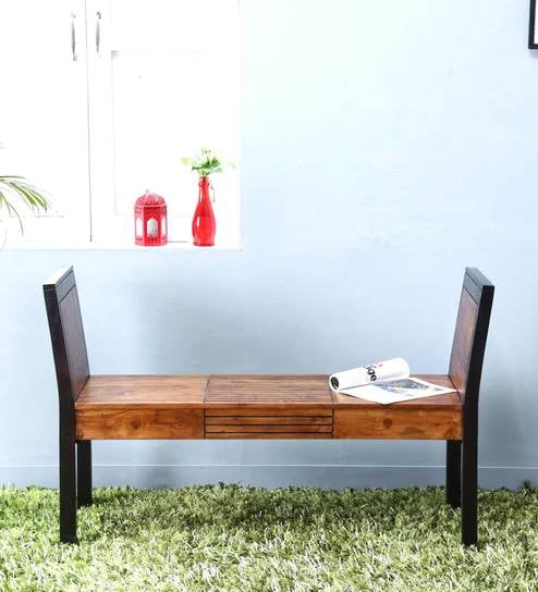 Forks Bench In Dual Tone Finish By Woodsworth