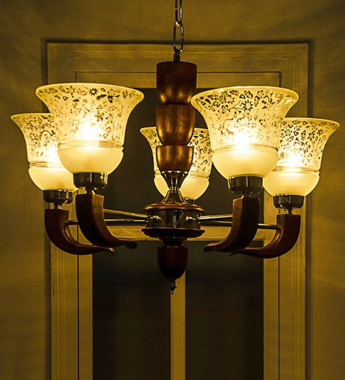 Buy 5 light wood brass brown chandelier by fos lighting online 5 light wood brass brown chandelier by fos lighting aloadofball Images