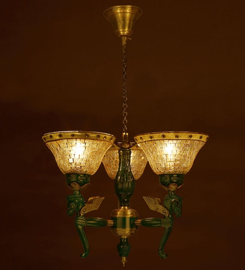 Buy pegasus seahorse 3 lights chandelier by fos lighting online green and gold brass and glass chandelier by fos lighting aloadofball Images