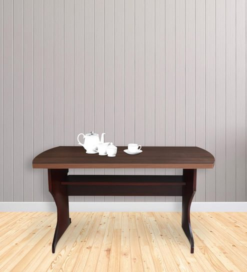 Buy Four Seater Dining Table In Rosewood Walnut Color By Crystal - Walnut color dining table