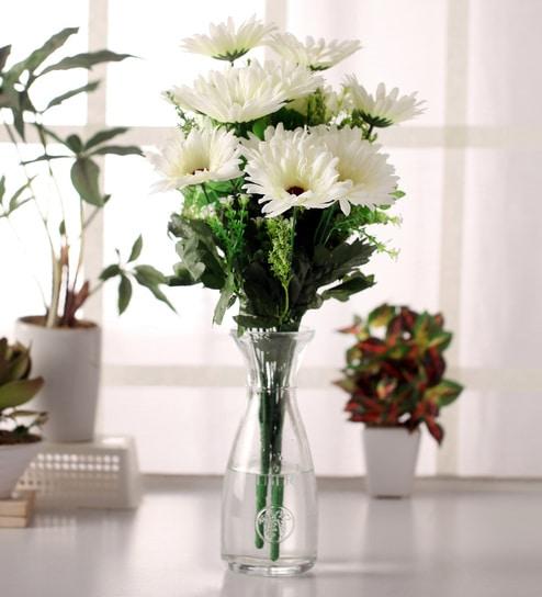 Buy white fabric flower bouquet set by fourwalls online artificial white fabric flower bouquet set by fourwalls mightylinksfo