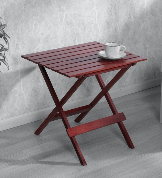 Buy Foldable Patio Table In Brown Colour By Clasicraft Online Patio Tables Tables Furniture Pepperfry Product