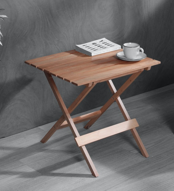 Buy Foldable Table In Natural Colour By Clasicraft Online Patio Tables Tables Furniture Pepperfry Product