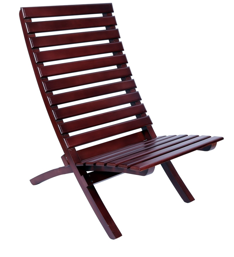Buy Foldable Chair In Brown Colour By Clasicraft Online Folding Chairs Chairs Pepperfry
