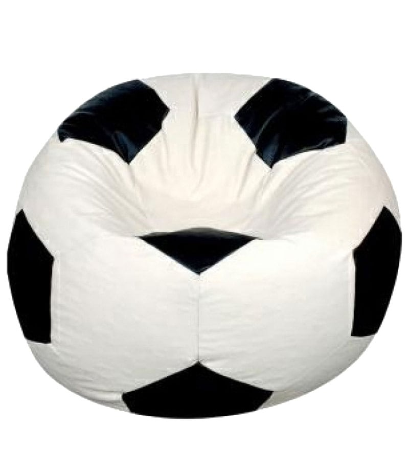 Buy Football XXL Bean Bag Chair Cover without Beans in Black ...