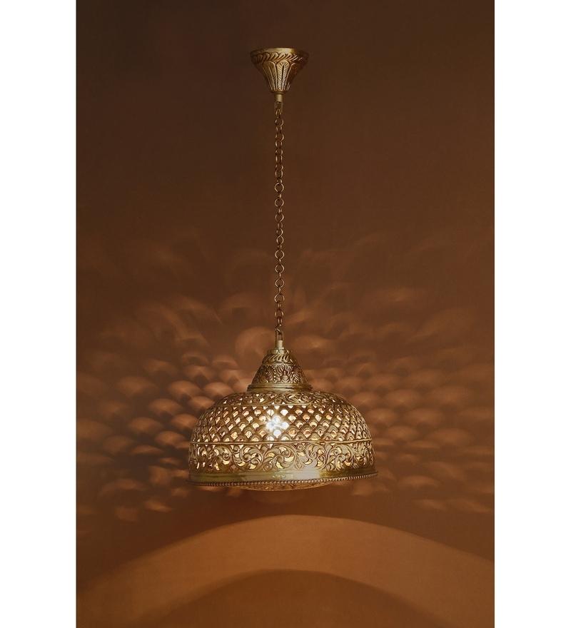 Gold Brass Pendant by Fos Lighting