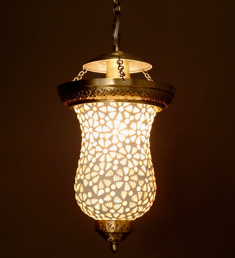 Buy White Captivating Brass Pendant By Fos Lighting Online