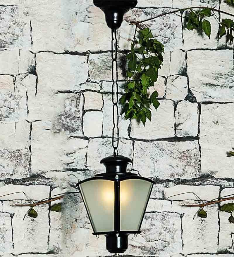 Lighting Black Aluminum & Glass Black Pendant by Fos Lighting