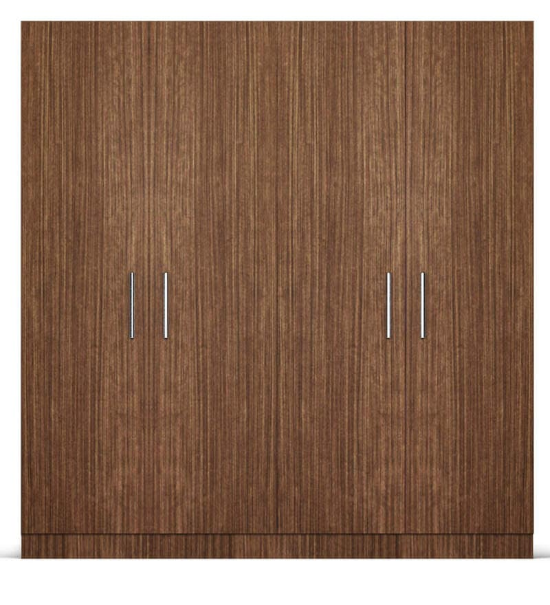 Click to Zoom In/Out & Buy Four Door Wardrobe in Viking Teak finish in Ply by Primorati ...