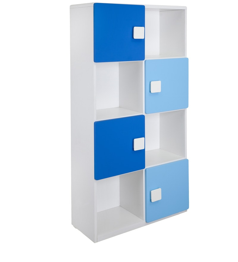 Kids' Display Unit cum Book case in Blue and White Colour by Alex Daisy