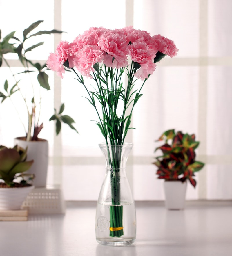 Buy Pink Polyester Artificial Decorative Tulip Flower Stems By