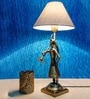 Fos Lighting Off White Brass Man Shaped Stand Table Lamp