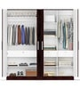 Four Door Wardrobe Euro Wenge Finish in MDF by Primorati
