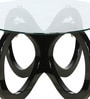 Four Rings Base Center Table with Glass Top in Black Colour by Parin