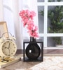 Black Ceramic Flower Vase in Frame by Fourwalls