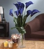 Blue Foam Latex Calla Lily Artificial Flower Bouquet by Fourwalls