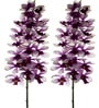 Fourwalls Purple Polyethylene 37 Inch Artificial Mokara Orchids