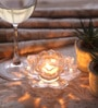 Multicolour Glass Lotus Candle Holder - Set of 3 by Fourwalls