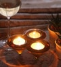 Fourwalls Multicolour Glass Tea Light Holder