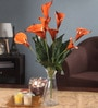 Orange Foam Latex Calla Lily Artificial Flower Bouquet by Fourwalls