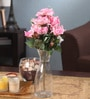 Fourwalls Pink Fabric Magnificent Artificial Synthetic Rose Bunch