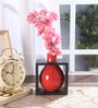 Fourwalls Red Ceramic Flower Vase in Frame