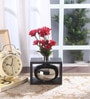 Fourwalls Silver Ceramic Stylish Flower Vase in Frame