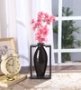 Silver Fabric Tall Stylish Flower Vase in Frame by Fourwalls